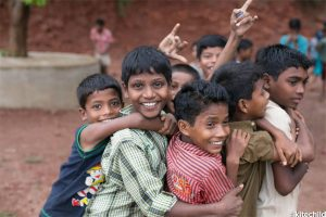 Some of the boys at the Ashirvad Home in India.