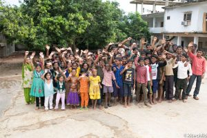 The children of the Ashirvad Home, whose education and nutrition is benefitted from the chicken farm.