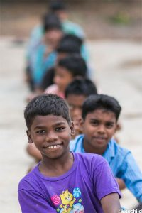Some of the children living at the Ashirvad Home.