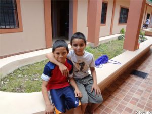 Some of the children living at the HHK Home in Honduras.