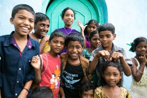 Children living at the LAMP Home in India, where we currently have a solar lighting project.