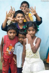 Some of the 36 children benefitting from the solar project.